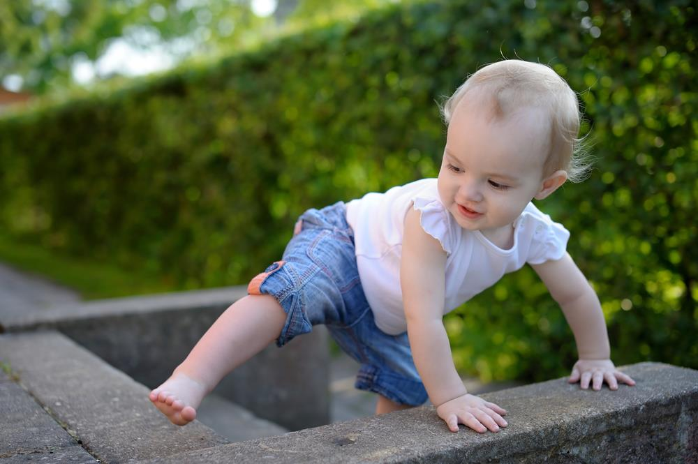 Got a baby crawling now learning to walk?