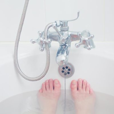 How long after a C-Section can I take a bath?